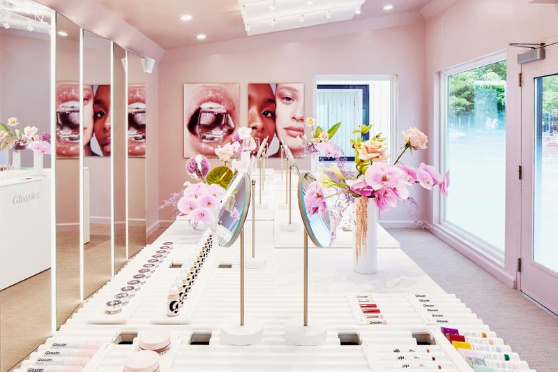 Glossier Boston Pop Up Store Beauty Skincare Products