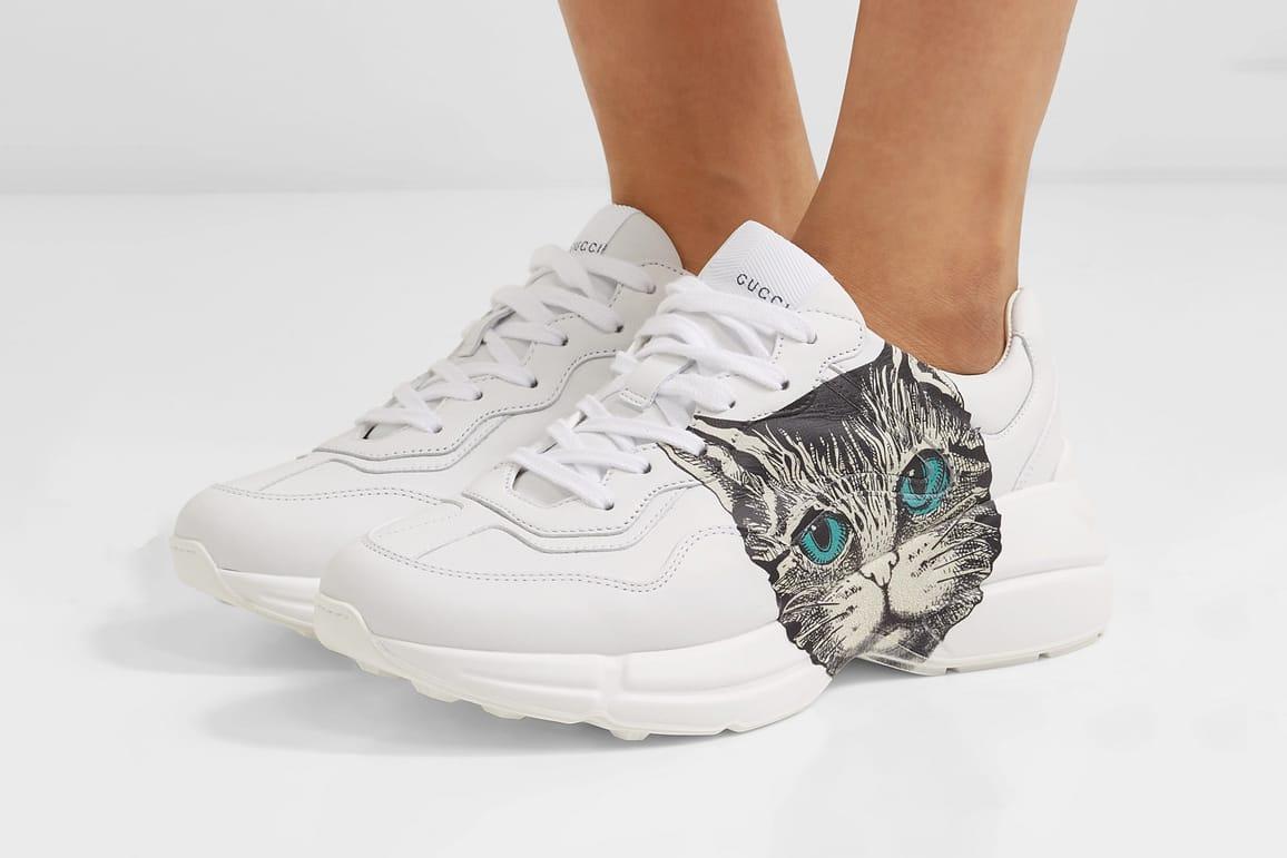 Buy Gucci Cat Print White Rhyton