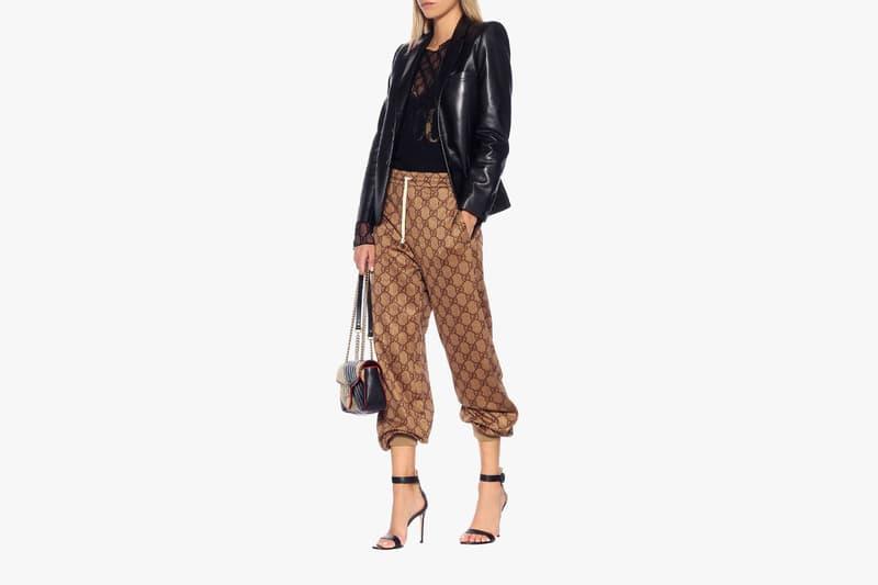 gucci gg logo trackpants womens fall fashion