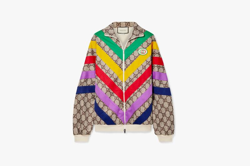 gucci track jacket retro oversized rainbow jumper gg monogram
