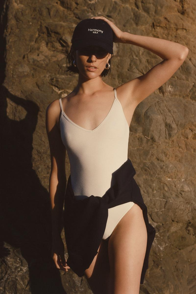 Harmony Paris USA Season 02 Campaign Bodysuit White Dad Hat Black