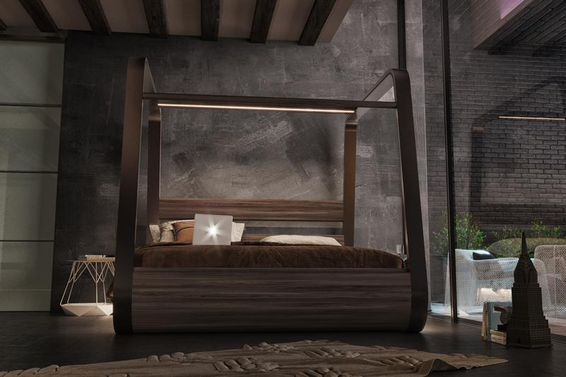 hibed hi-interiors smart bed sleep speakers projector screen luxurious furniture home technology
