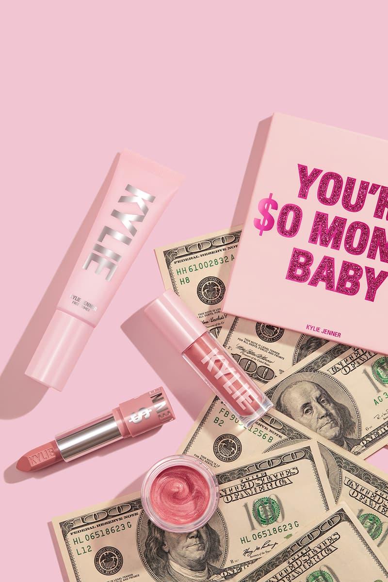 kyle jenner makeup birthday collection lipstick highlighter eyeshadow