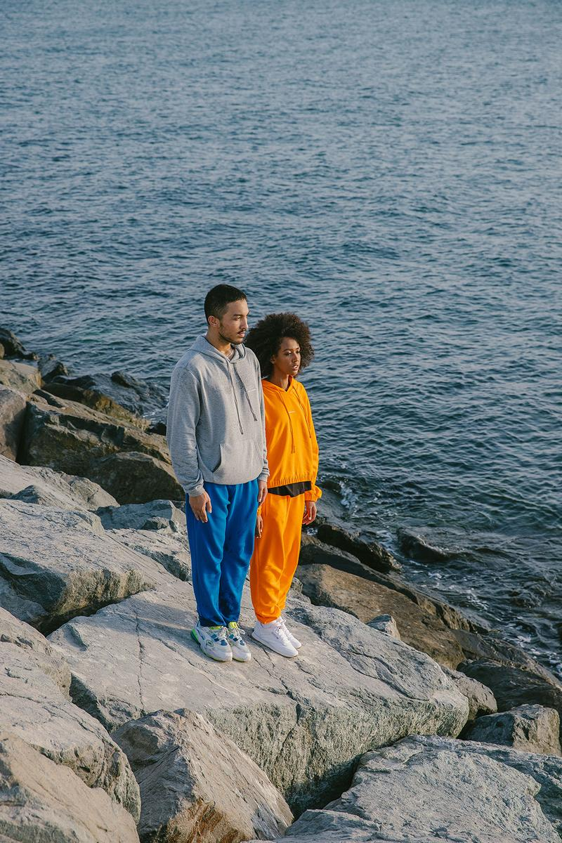 les benjamins essentials collection hoodies sweatpants sweatsuits lookbook ocean beach rocks sky