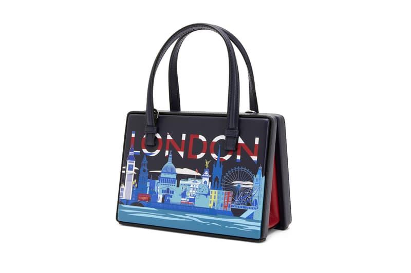 Loewe Postal Bag Release Postcard Print Motif Luxury Purse Paris Madrid Hong Kong London New York Shanghai Tokyo Colorways Color