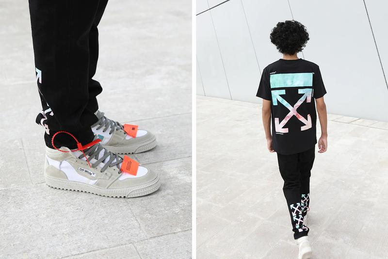 off-white luisaviaroma virgil abloh exclusive collection womens sneakers t-shirts leggings