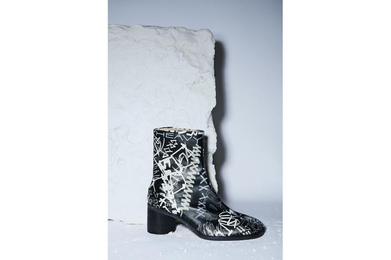maison margiela collection graffiti womens mens boots tabi shoes designer