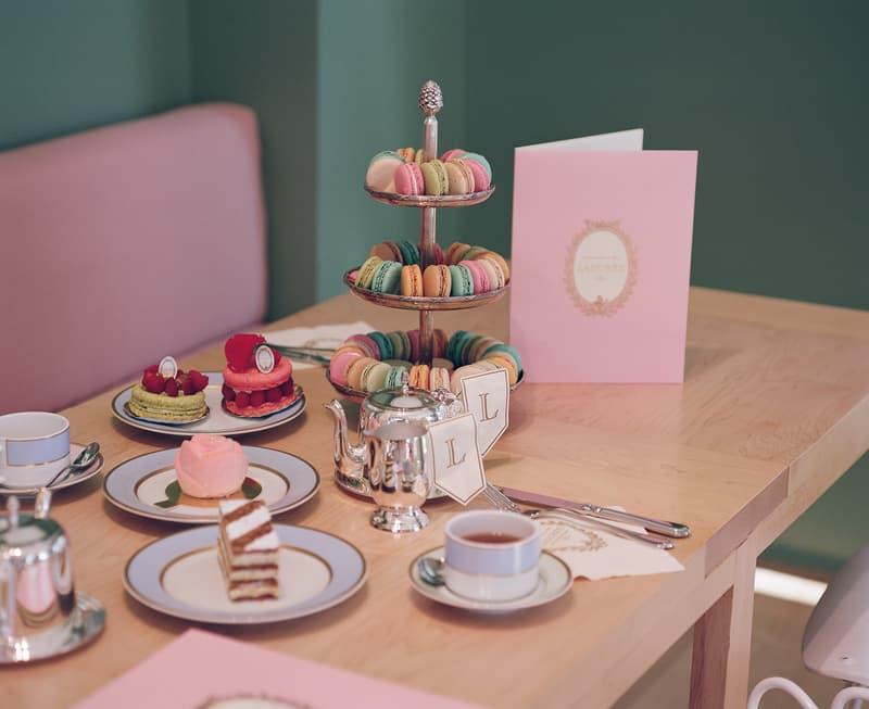 mansur gavriel lauderee cafe dessert interior macaron