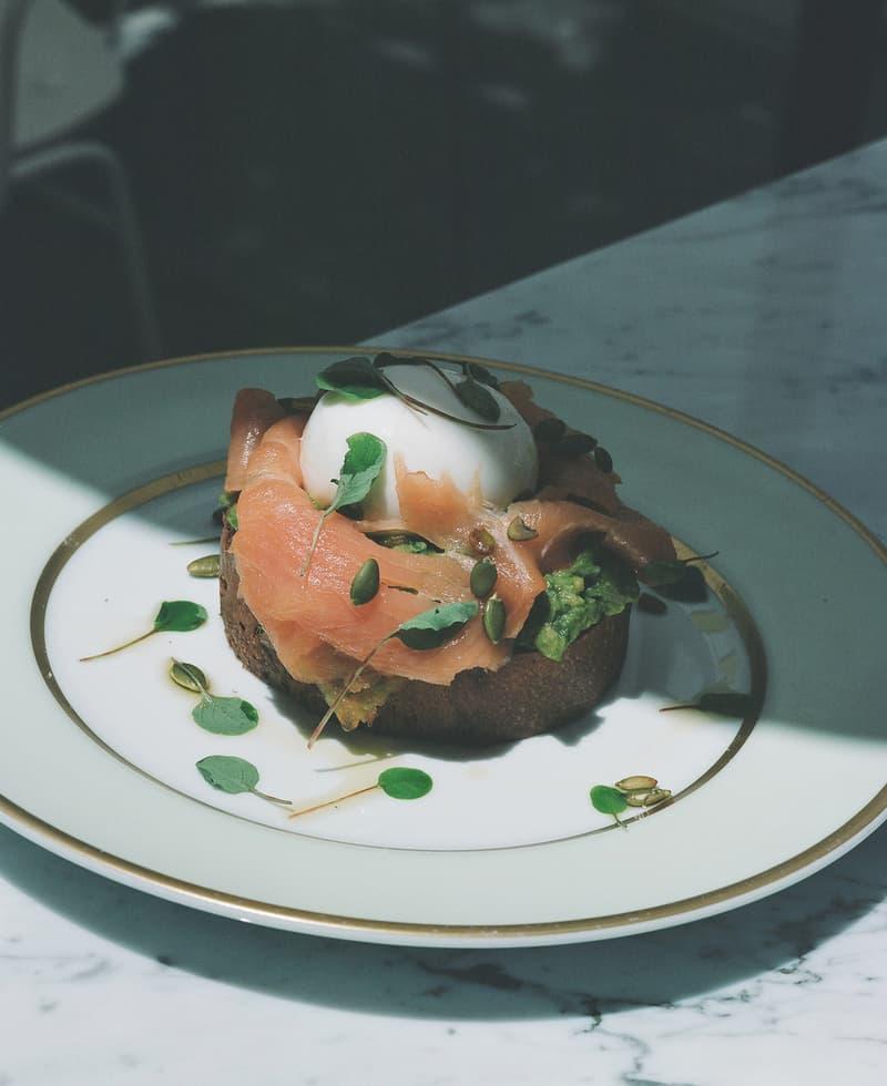 mansur gavriel lauderee cafe dessert avocado toast salmon