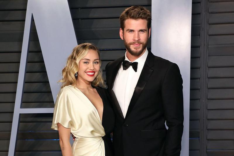 Miley Cyrus Dress White Liam Hemsworth Blazer Black