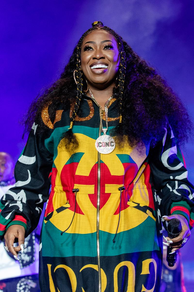 Missy Elliot Essence Festival 2018 Gucci Hoodie Black Gold Red