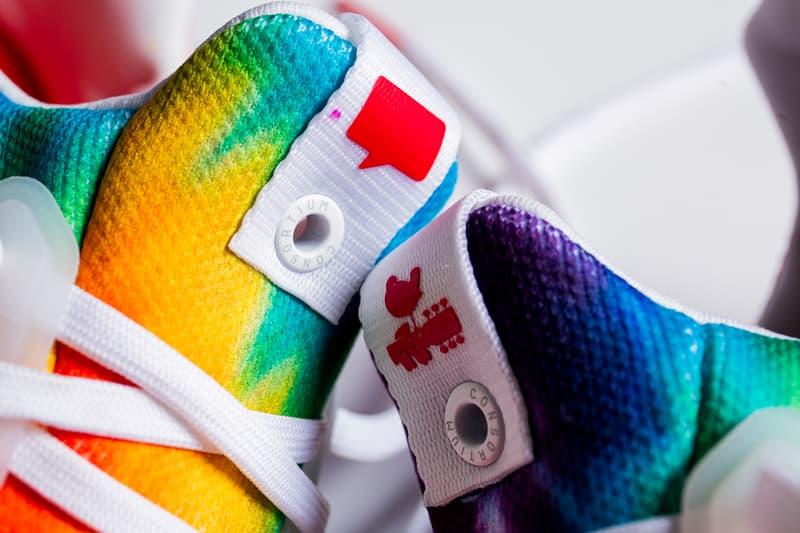 adidas consortium nice kicks ultraboost tie-dye sneakers woodstock hippie 60s music festival