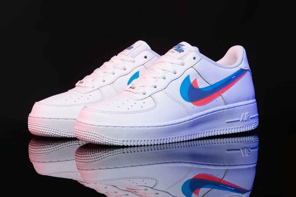 escucho música favorito nudo  Nike Releases Air Force 1 with 3D Swoosh | HYPEBAE