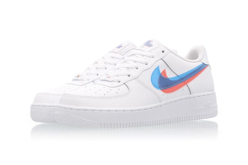 nike air force 1 3d womens sneakers grade school exclusive af1 crimson blue