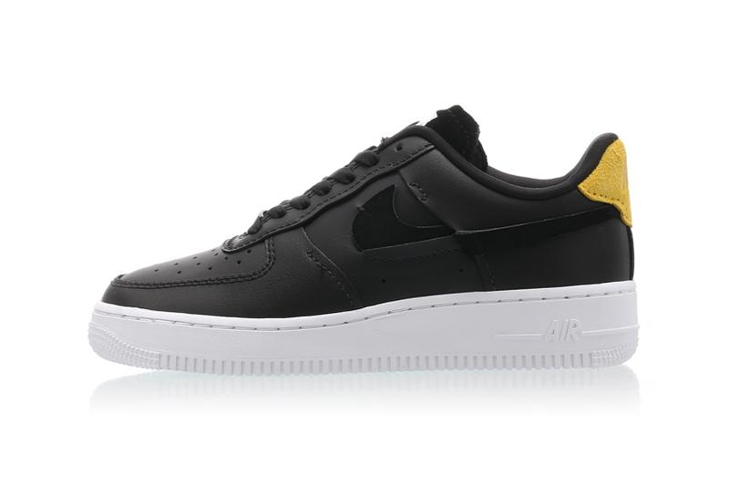 nike air force 1 07 vandalized series womens sneakers black yellow green suede