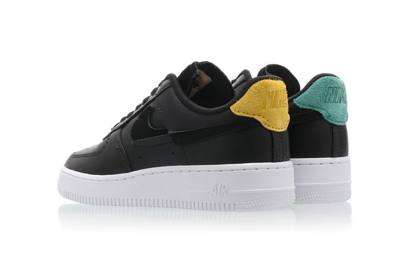 nike air force 1 07 vandalized series womens sneakers black yellow green suede