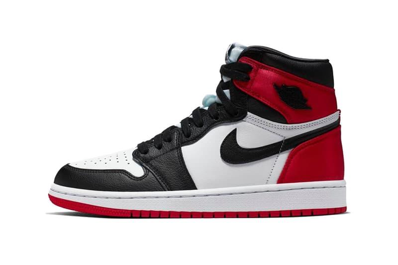 regarder f83e2 546e8 Where to Buy Air Jordan 1 Bloodline Satin Toe | HYPEBAE
