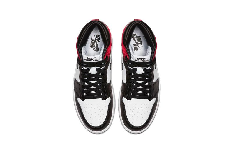 Air Jordan 1 Satin Toe Bloodline Red White Black