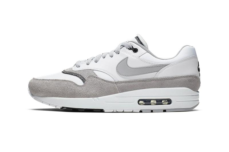 nike air max 1 sneakers monochrome wolf grey white