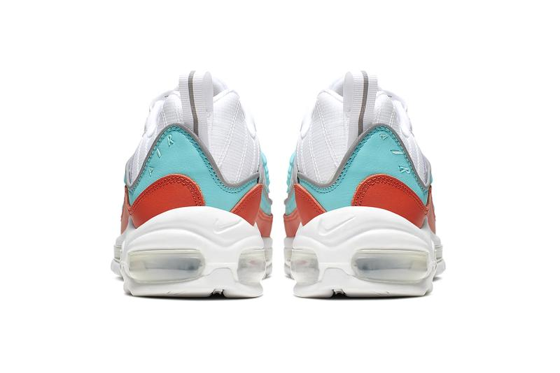 nike air max 98 womens sneakers white blue orange aqua shoes footwear sneakerhead