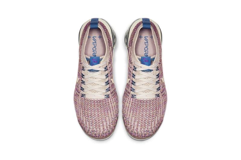 nike air vapormax flyknit 3 womens sneakers desert sand vivid purple