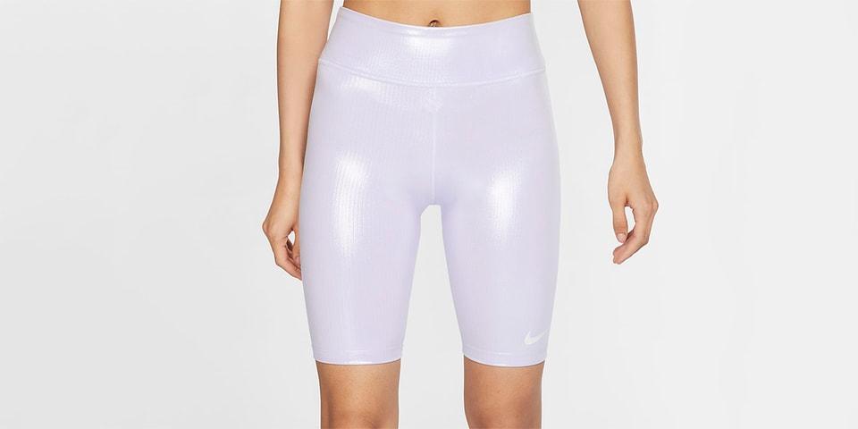 Nike Iridescent Oxygen Purple Shiny Bike Shorts Hypebae