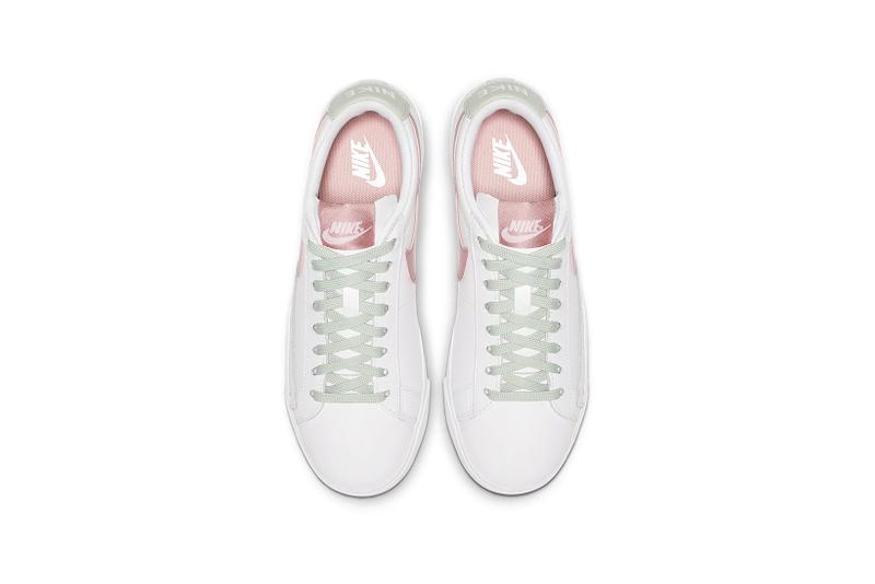 nike blazer low bleached coral pistachio frost green sneakers
