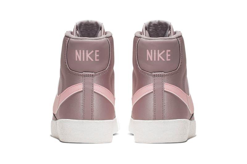 Nike Blazer Mid Premium Pumice Echo Dusky Pink Satin Sneakers Trainers