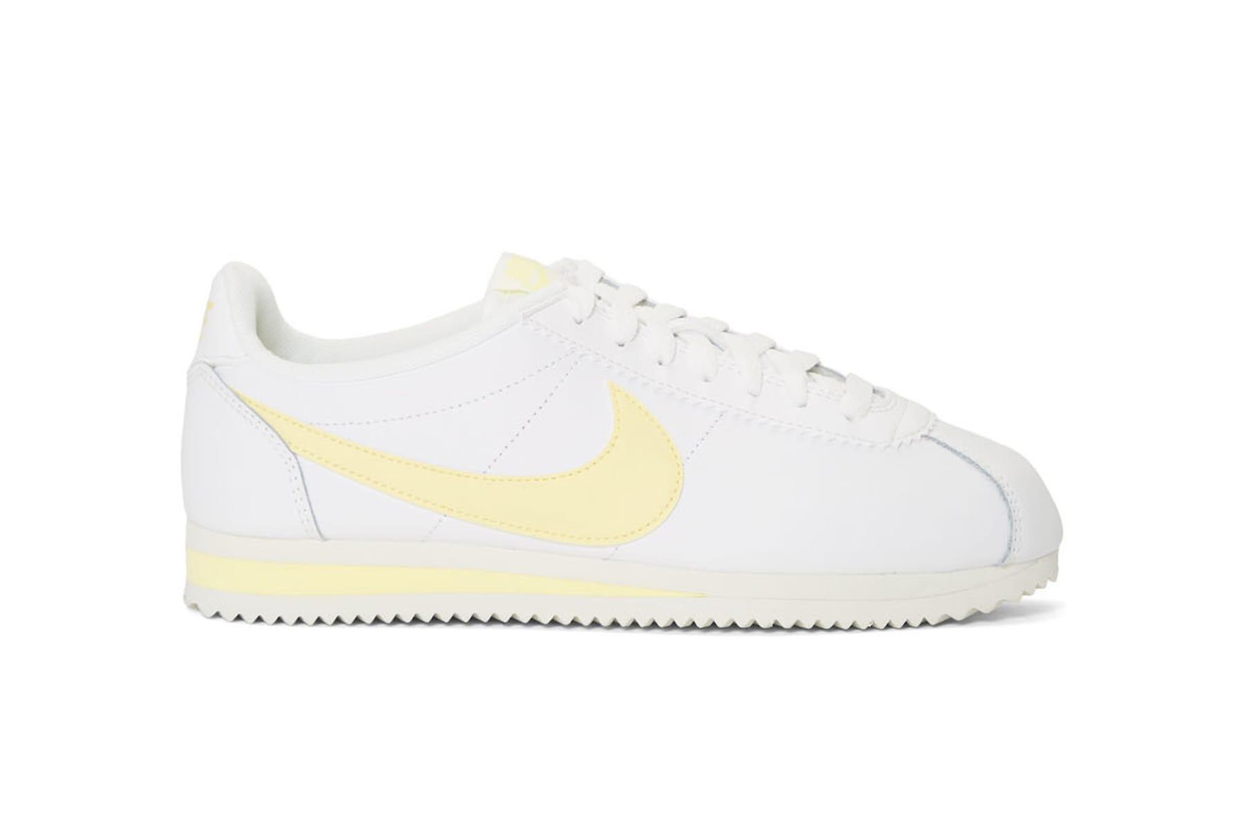 Nike Cortez in Pastel Yellow White