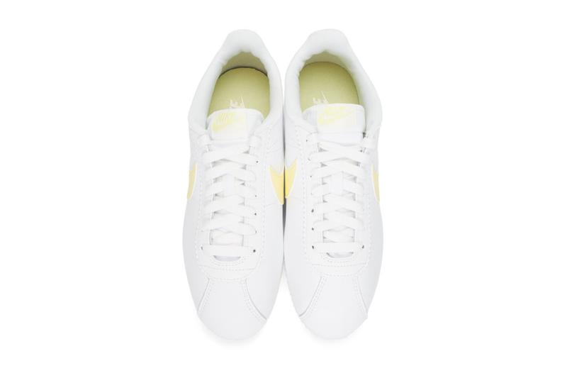 Nike Cortez in Pastel Yellow White Retro Sneaker Shoe Footwear Trainer Release Summer Fall Hue Colorful VIbrant Streetwear Staple