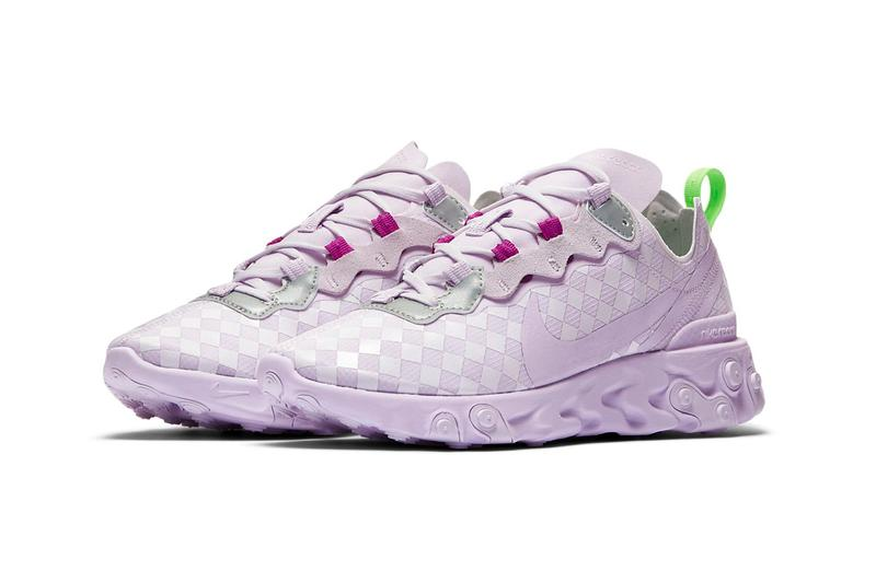 Nike React Element 55 Barely Grape Lilac Pastel Lavender Purple Sneakers Trainers
