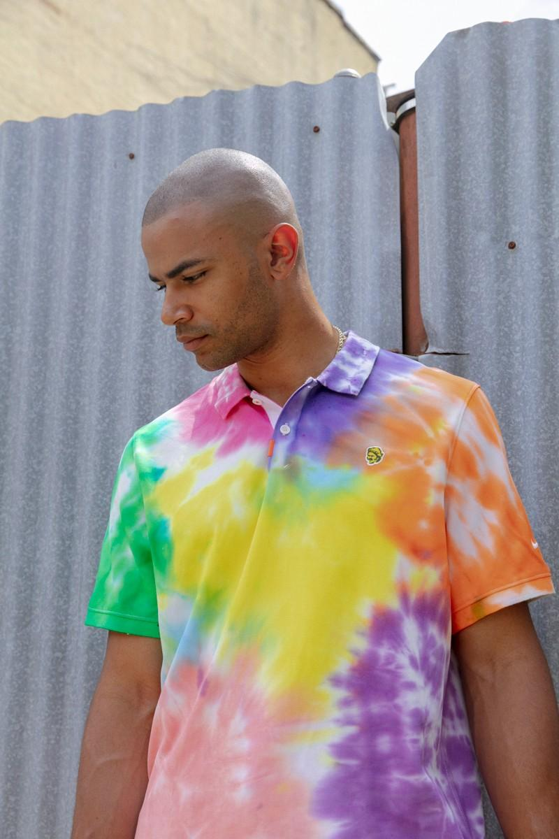 nike sb golf tie-dye polo t-shirts sneakers