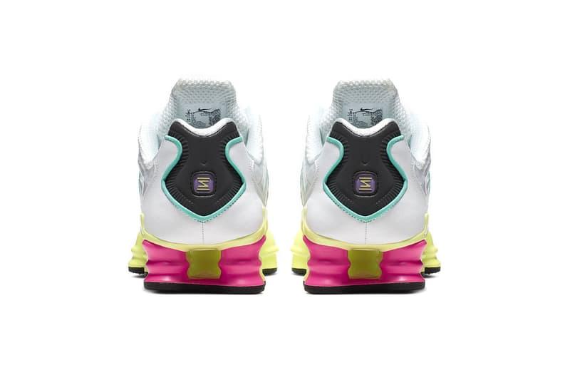 nike shox tl womens sneakers summer luminous green yellow pink purple