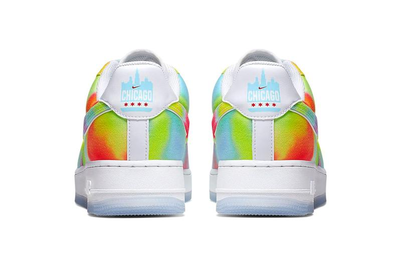 nike air force 1 07 premium tie-dye womens sneakers white university red blue