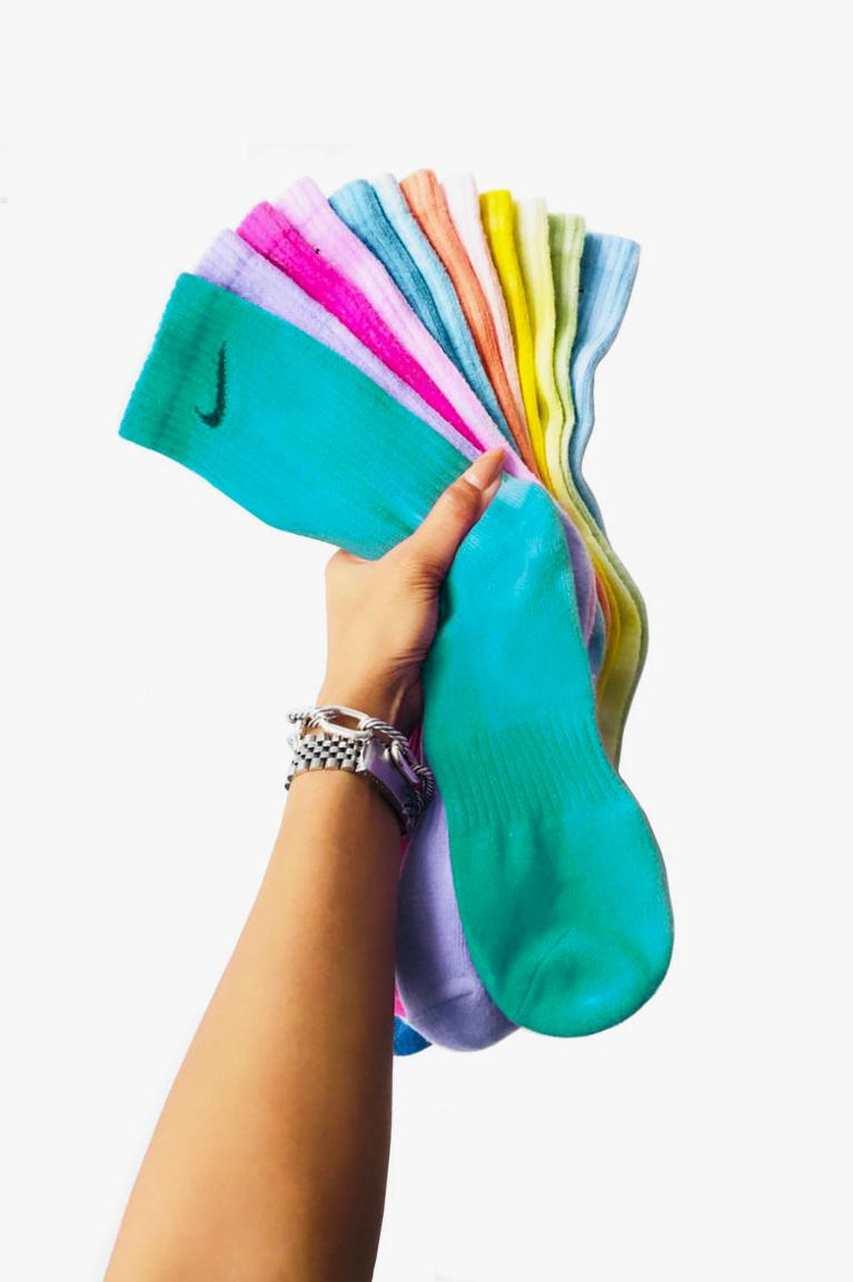 nike tie dye socks samm jo custom handmade