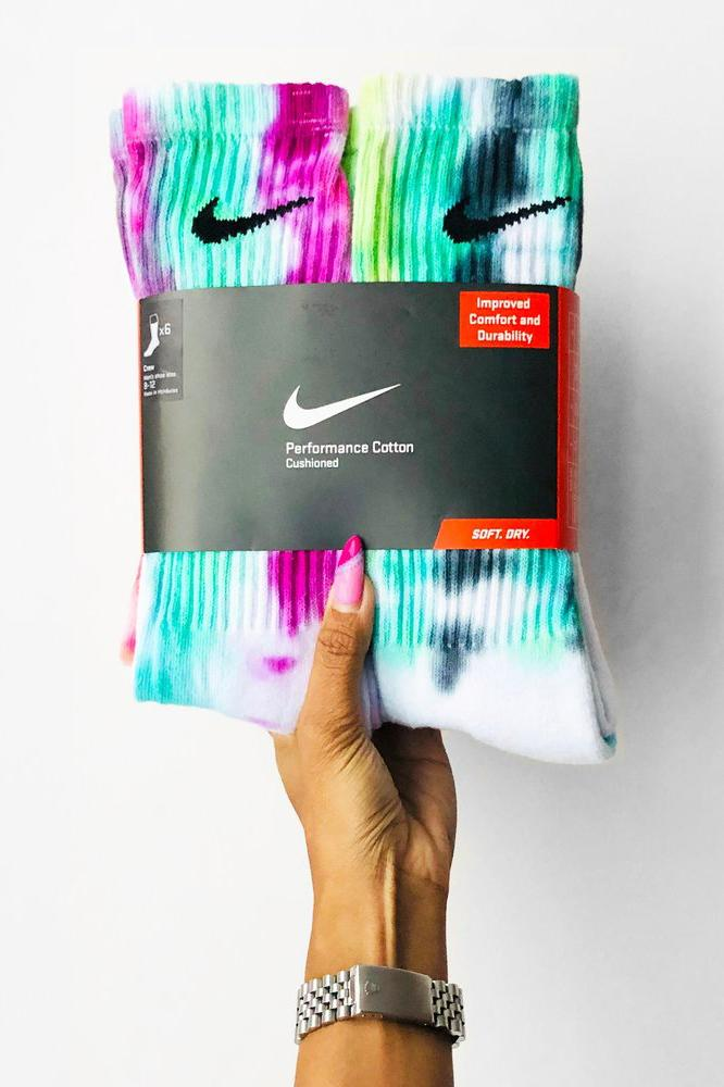 nike tie dye socks sammy jo custom multicolor