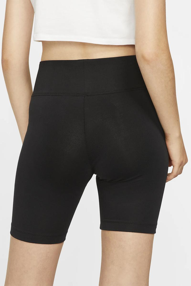 nike womens bike shorts sportswear fitness workout black grey leg a see