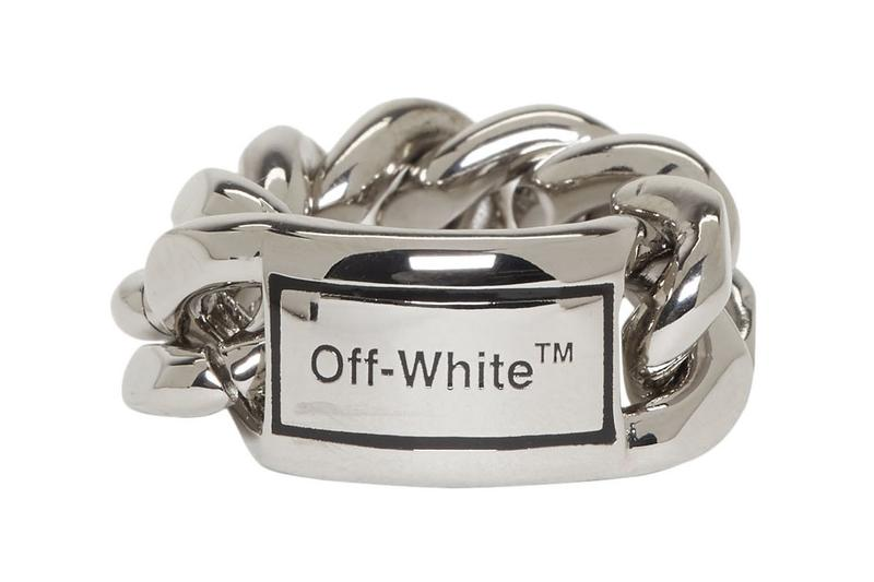 off-white jewelry chain silver ring