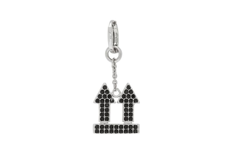 off-white earrings jewelry arrow black silver