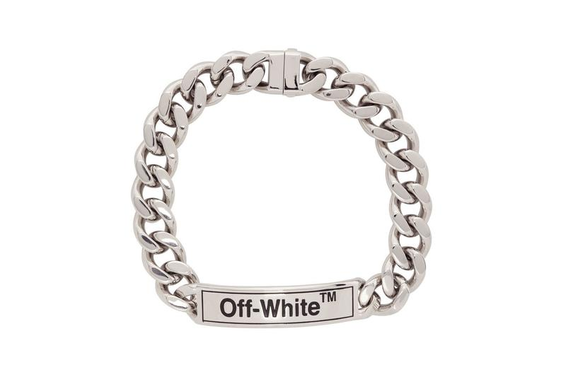 off-white jewelry chain silver necklace
