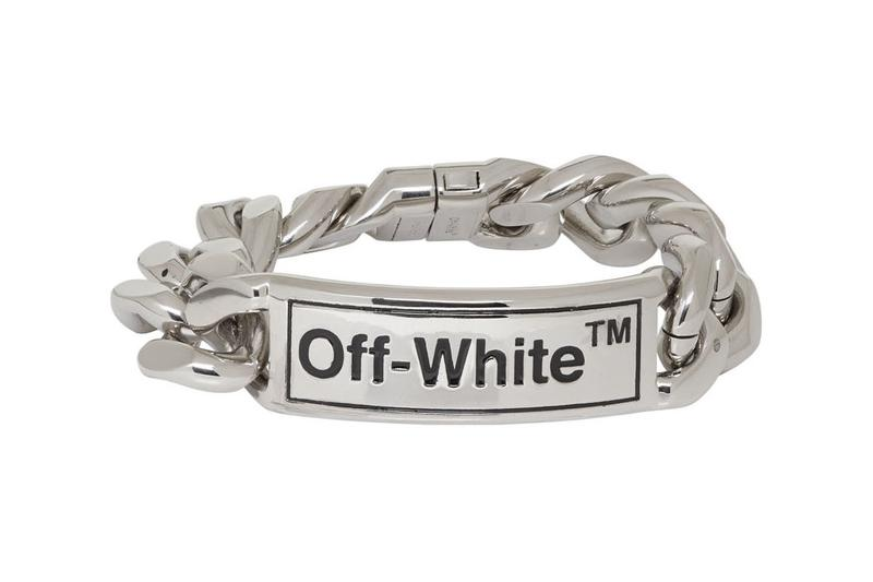 off-white jewelry chain silver bracelet