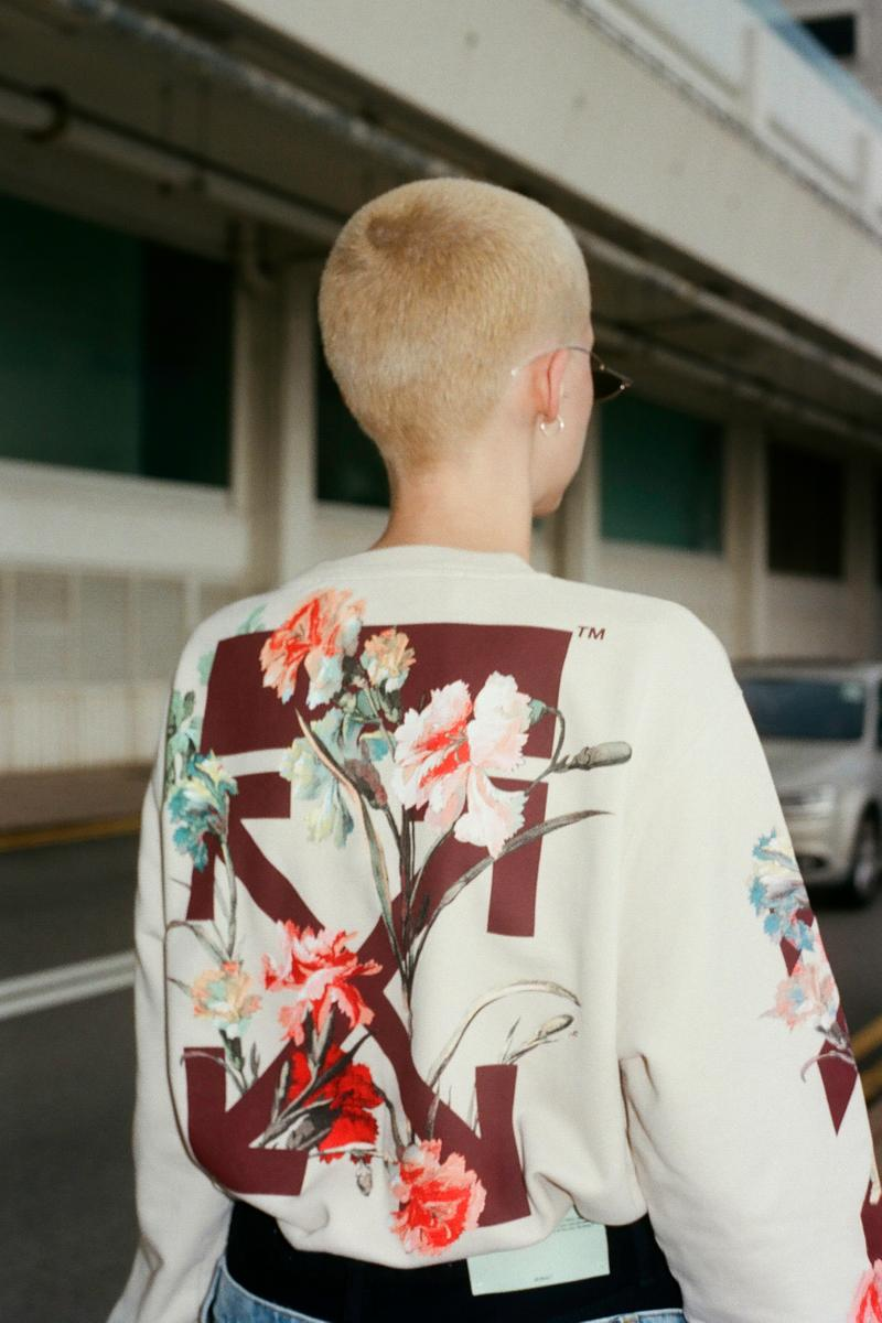 Off-White™ Fall/Winter 2019 Collection Editorial HBX HBXWM Virgil Abloh Sneakers Bags Accessories Logo Print Jackets Apparel