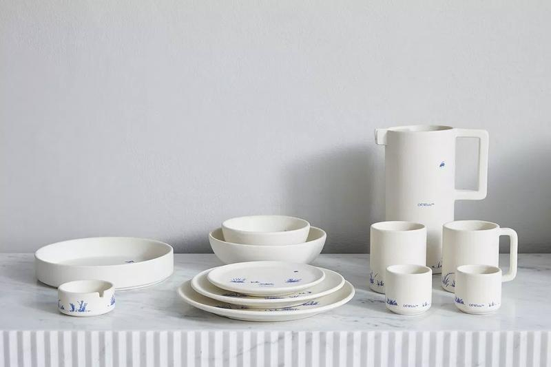 Off White HOME Collection Ceramics Plates Cups Bowls White