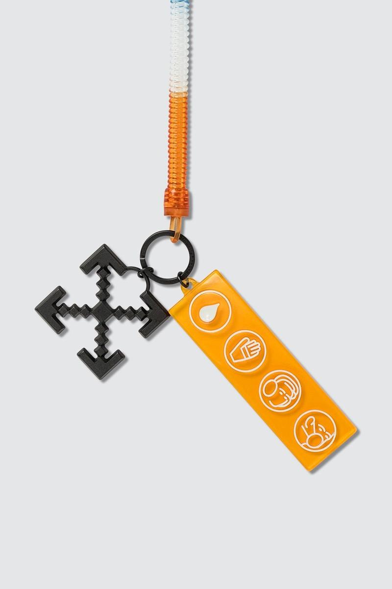 off white industrial y013 bungee keyring keychain