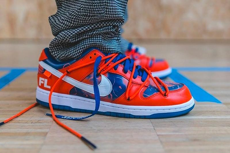 Off White x Nike Dunk Low Blue Red White