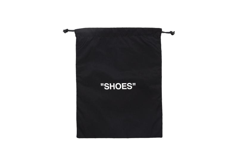 Off-White™ Logo Travel Packing Pouches Laundry Shoes Underwear T-Shirt Bag Black Storage