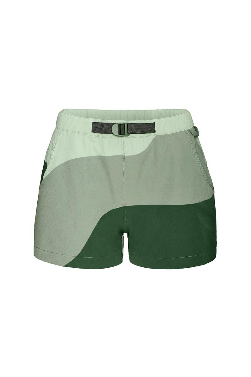outdoor voices retrek color blacked hike short green
