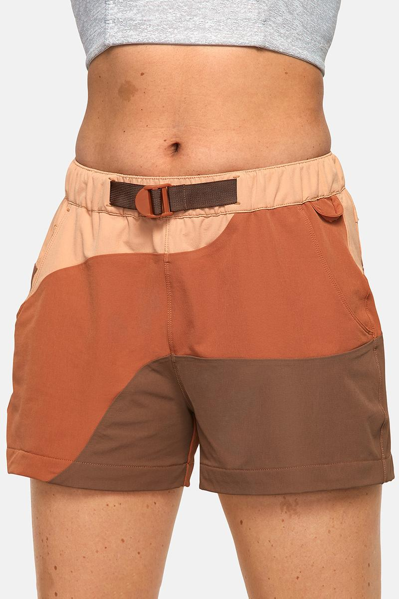 outdoor voices retrek color blacked hike short orange