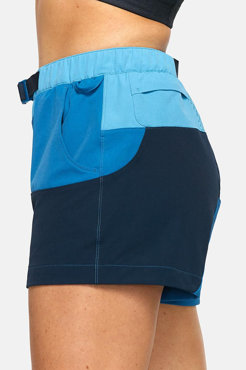 outdoor voices retrek color blacked hike short blue