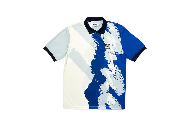 Palace Fall Winter 2019 Drop 2 Tie Dye Shirt Blue